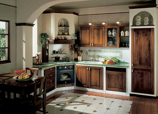 Zani Cucine Componibili : Cucine zani antiqua muratura noce g de gregoris dove