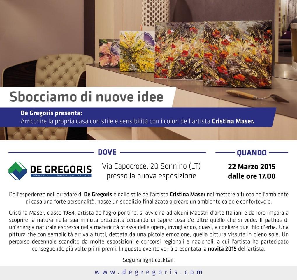 De Gregoris Ceramiche Latina.Esposizione Quadri Cristina Maser De Gregoris